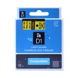 Dymo D1 tape D45808 19mm. zwart op geel