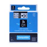 Dymo D1 tape zwart op transparant