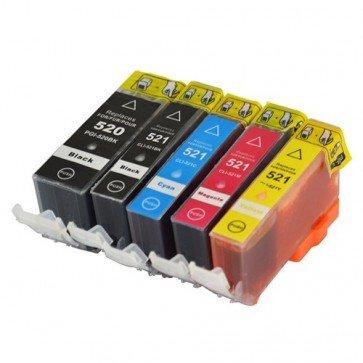 Huismerk Canon CLI-521 Inktcartridges Multipack 5-Pack (met chip)