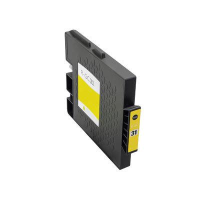Huismerk Ricoh GC-31Y Inktcartridge (gel) Geel