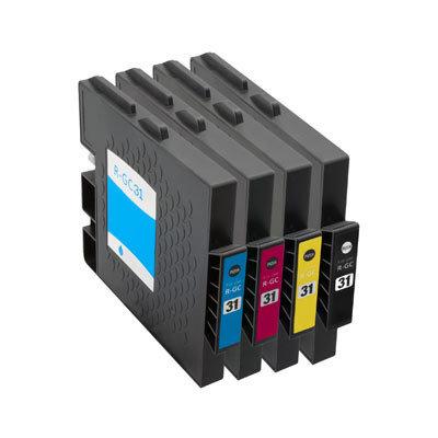 Huismerk Ricoh GC-31 Inktcartridges (gel) Multipack