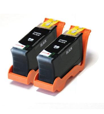 Huismerk Lexmark 100XL (14N1068E) Inktcartridges Zwart 2-Pack