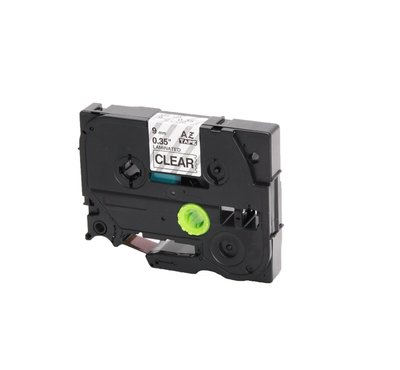 Huismerk Brother TZe-121 Tape Zwart op Transparant 9mm