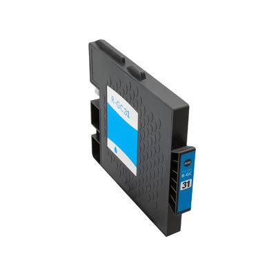 Huismerk Ricoh GC-31C Inktcartridge (gel) Cyaan