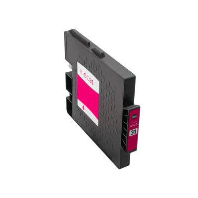 Huismerk Ricoh GC-31M Inktcartridge (gel) Magenta