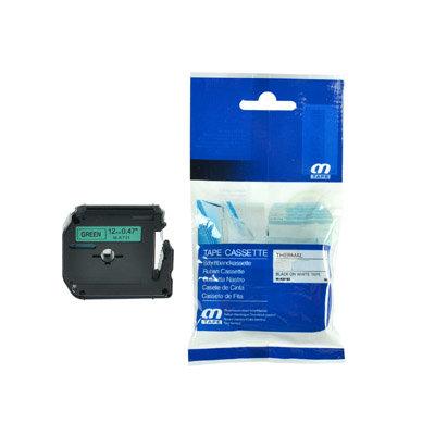 Huismerk Brother M-K731 Tape Zwart op Groen 12mm