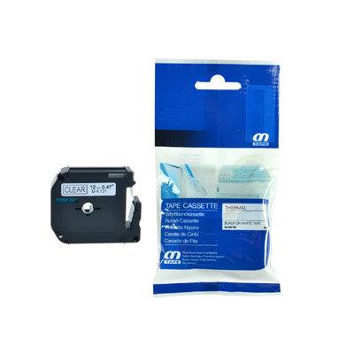 Huismerk Brother M-K131 Tape Zwart op Transparant 12mm