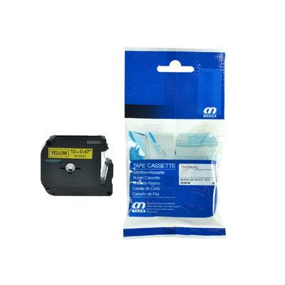Huismerk Brother M-K631 Tape Zwart op Geel 12mm