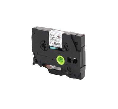 Huismerk Brother TZe-131 Tape Zwart op Transparant 12mm