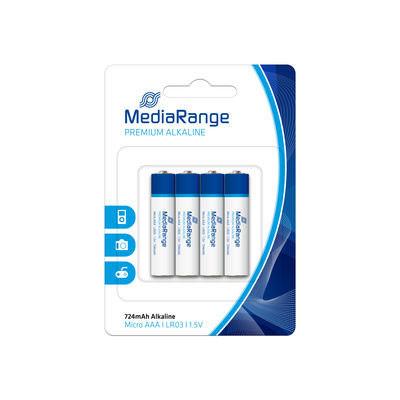 MediaRange Premium Alkaline Batterijen 1.5V LR03 Mini Penlite AAA (4 stuks)