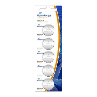 MediaRange Premium Alkaline Knoopcel Batterij CR2450 3V (5 stuks)