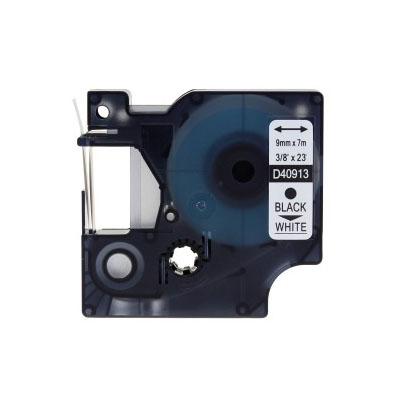 Huismerk DYMO S0720680/40913 D1 Tape Zwart op Wit 9mm