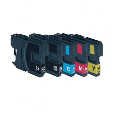 Huismerk Brother LC-1100BK/LC-980BK Inktcartridges Multipack (5)