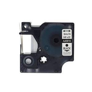 DYMO S0720670/40910 D1 Tape Zwart op Transparant 9mm